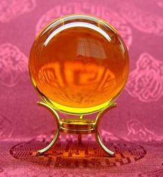 Citrine crystal ball  So beautiful. Incensewoman