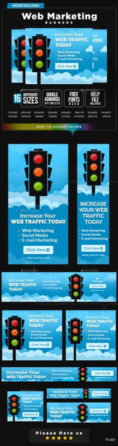Web Marketing Banners Template PSD | #webbanners #marketingbanners | Buy and Download: http://graphicriver.net/item/web-marketing-banners/10031489?ref=ksioks
