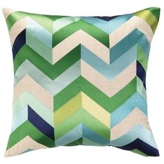 DL Rhein Arrowhead Blue/Green Embroidered Pillow @LaylaGrayce