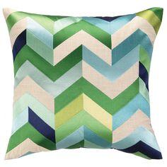 DL Rhein Arrowhead Blue/Green Embroidered Pillow @LaylaGrayce