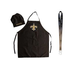New Orleans Saints NFL Barbeque Apron and Chefs Hat