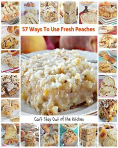 57 Ways To Use Fresh Peaches | Can't Stay Out of the Kitchen | #breakfast #dessert #cookies #cakes #pies #cobblers