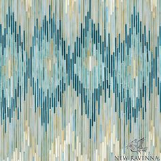 Loom, a handmade jewel glass mosaic shown in Quartz, Aquamarine, Tanzanite and Turquoise, is part of the Ikat Collection by Sara Baldwin for New Ravenna Mosaics. As seen in Coastal Living. Take the next step: prices, samples and design help, http://www.newravenna.com/showrooms/