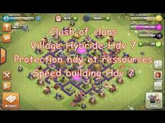 Clash of clans,  [ Village Hybride Hdv 7 ] Protection hdv et ressources....