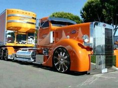bright. orange. BIG TRUCK.