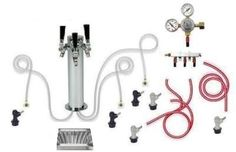 Home Brewing Keg: 3 Tap Chrome Tower Home Brew Kegerator Kit with tray (Flat Rate Shipping) -- Check out this great product.