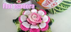 "Flor de Crochê - Flor Isadora ""Diandra Schmidt Rosa"""