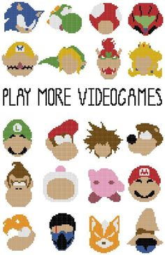 Video Games Geek Cross Stith - Free pattern Embroidery Patterns on Craftsy . Support Creativity. Buy Indie.