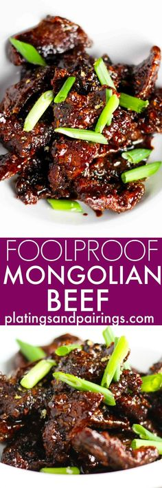This recipe for foolproof Mongolian Beef makes it easy to make your favorite take out dish at home. | platingsandpairin...