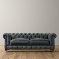 Chesterfield Sofa (Handmade-Denim) by UPTOWNFURNITURE on Etsy