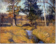 'Brandywine Hill' country - title unknown (Chadds Ford landscape with stream) 1911-12 by N.C. Wyeth | Flickr