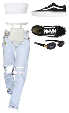"""""""Untitled #2847"""" by christabell-cxlvi ❤ liked on Polyvore featuring Jade Swim, Gianfranco Ferré, Vans and Chanel"""