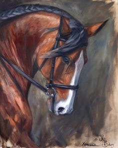 Xenophon by Lydia Rose Spencer, Lydia Rose Fine Art #equine #portrait #painting…