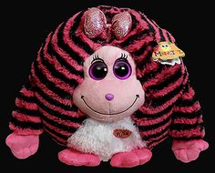 8aa4a7590ff Zoey (37915 large) - Ty Monstaz pink and black striped monster. Makes sounds