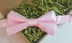Children's Pale Pink Two-Tone Taffeta Pretied Bowtie Wedding Special Ocassion by HouseOfJdawn on Etsy