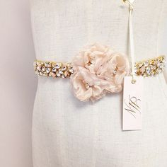 Swarovski Rose Gold and Blush Crystal Bridal Sash- Gold Crystal Bridal Belt- Blush Bridal Belt