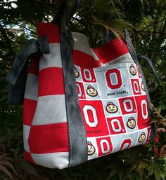 OSU Ohio State University Quilted Purse Bag by kre8ivLizard, $58.00