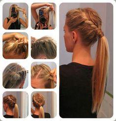 Braided hairstyle braided ponytail fancy ponytail side braid summer hair updo hair