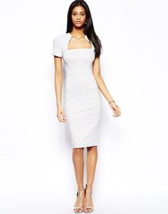 Definitely buying this:ASOS Pencil Dress with Square Neck