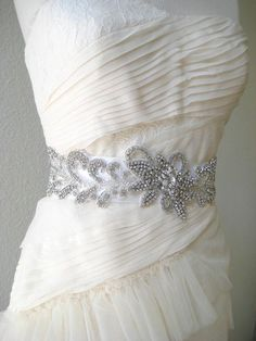 applique dress sash