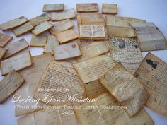 17th & 18th Century Folded Letter by lookinglassminiature on Etsy, $14.00