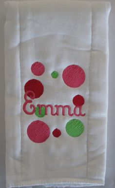 Personalized Burp Cloth