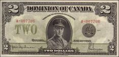 Dominion of Canada 2 Dollar Bill 1923 Edward, Prince of Wales - King Edward VIII Canadian Coins, Canadian History, 5000 Dollar Bill, Money Template, Rare Pennies, Passport Card, Money Notes, Valuable Coins, Old Money