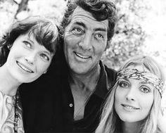 Mia Farrow, Dean Martin and Sharon Tate on the set of The Wrecking Crew (1969)
