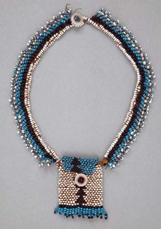 Africa   Beaded necklace from the North Nguni (Zulu) people of South Africa   ca. 1900   Glass beads and plant fiber.