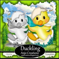 Anjo Creations: Duckling Template CU/PU