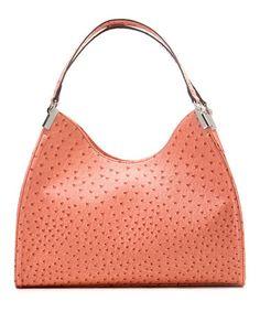 Look what I found on #zulily! Rose Ostrich Irene Shoulder Bag by emilie m. #zulilyfinds