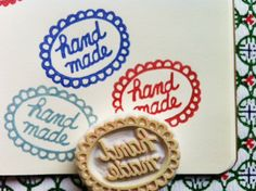 handmade rubber stamp. hand carved rubber stamp. for makers. no1.. $10.00, via Etsy.
