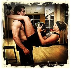 Those who workout together.... Via Hannah and Dylan