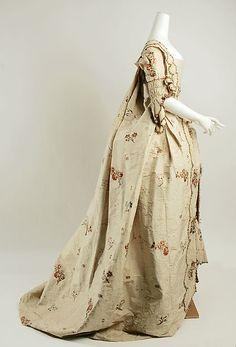 Robe à la Française (image 2) | British | 1760-80 | silk | Metropolitan Museum of Art | Accession Number: 25.12a–c