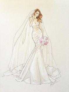 Custom Bridal Illustrations