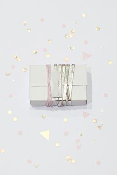 Metallic gift wrapping