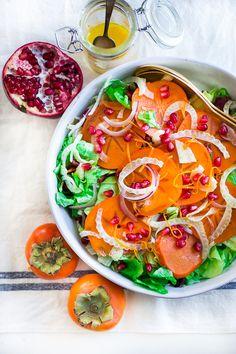 Winter Solstice Salad with Citrus Dressing via @feastingathome