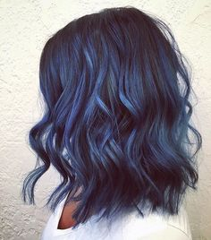 Colored hair Dark Purple Hair, Blue Ombre Hair, Green Hair, Denim Blue Hair, Indigo Hair Color, Pulp Riot Hair Color, Cool Hair Color, Hair Colors, Hair Evolution