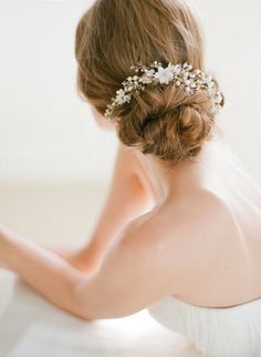 Low Bun Upstyle | Wedding Hair Inspiration | Bridal Musings Wedding Blog 10
