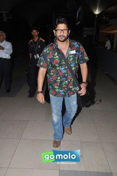 Arshad Warsi snapped at Mumbai Domestic Airport