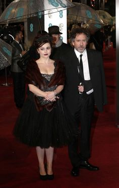 Helena Bonham Carter and Tim Burton at the BAFTAAwards. (She'd look better if she ditched the fur wrap thing, but I love that dress :D)