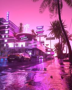 Vice City Nights Framed Art Print by Skie Graphic Studio - Vector Black - Pink Tumblr Aesthetic, Neon Aesthetic, Night Aesthetic, Bedroom Wall Collage, Photo Wall Collage, Picture Wall, Aesthetic Backgrounds, Aesthetic Iphone Wallpaper, Aesthetic Wallpapers