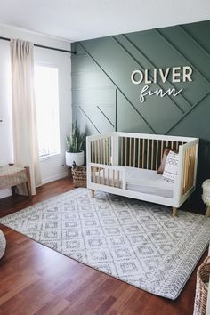 Toddler Bedroom Makeover - Within the Grove - - We're turning Oliver's nursery into a toddler bedroom. With his birthday next week, this is the perfect time to make the switch! Baby Bedroom, Baby Boy Rooms, Baby Boy Nurseries, Baby Boy Bedroom Ideas, Boy Nursey, Baby Boy Nursery Decor, Room Baby, Baby Room Design, Design Bedroom