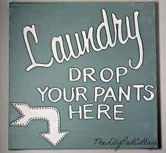 laundry room sign,