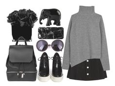 """""""#236"""" by vilte-m ❤ liked on Polyvore featuring Casetify, AG Adriano Goldschmied, STELLA McCARTNEY, Joseph, The Elephant Family, Hervé Gambs and COSTUME NATIONAL"""