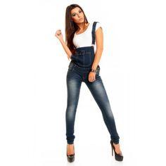 Salopette jean bleu du grossiste et import