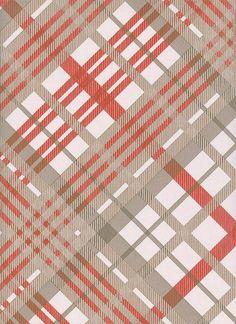 Tartan Wallpaper Vivienne Westwood designed tartan wallpaper in stone greige and red