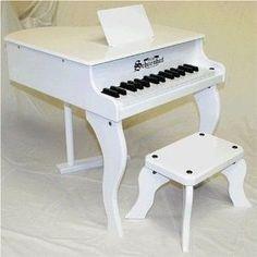 Schoenhut 30 Key White Fancy Baby Grand Piano