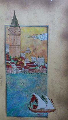 miniature-Jülide Kişioğlu-Istanbul#galata kulesi