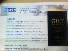 Women CEO boot camp with American Express!
